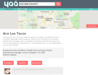 acalostacosjardinesdelpedregal.yaa.mx screenshot