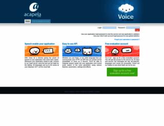 acapela-vaas.com screenshot