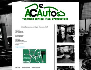 acautos.org.uk screenshot