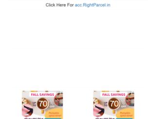 acc.brightparcel.com screenshot