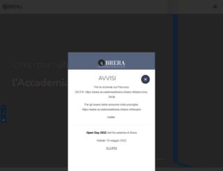 accademiadibrera.milano.it screenshot