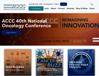 accc-cancer.org screenshot