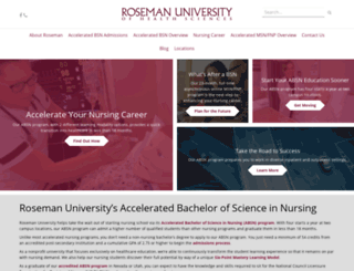 acceleratednursing.roseman.edu screenshot