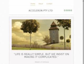 acceleron.com.au screenshot