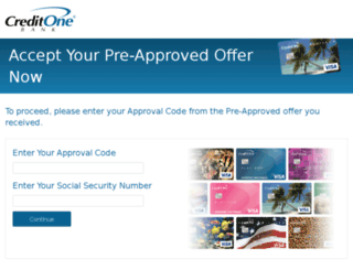 accept.creditonebank.com screenshot