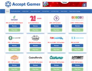 acceptgames.com screenshot