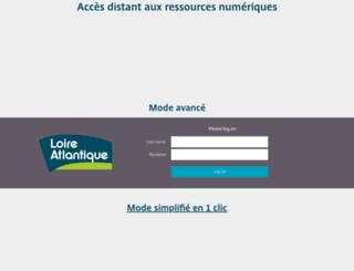 accesdistant.loire-atlantique.fr screenshot