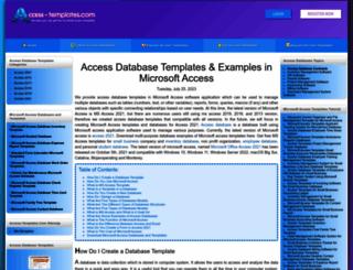 access-templates.com screenshot
