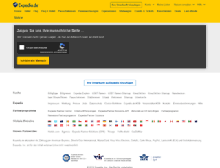 access.expedia.de screenshot