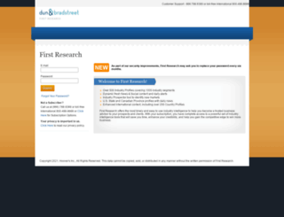 access.firstresearch.com screenshot