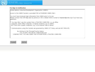 access.unido.org screenshot