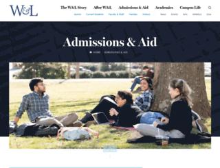 access.wlu.edu screenshot