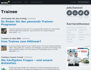 access2trainee.de screenshot