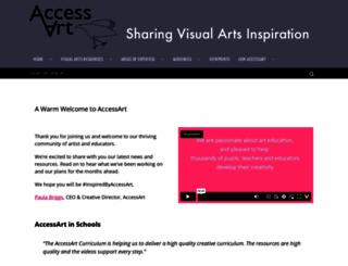 accessart.org.uk screenshot