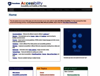 accessibility.psu.edu screenshot