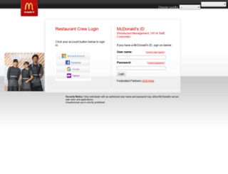 accessmcd.com screenshot