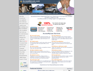 accessmyloan.com screenshot