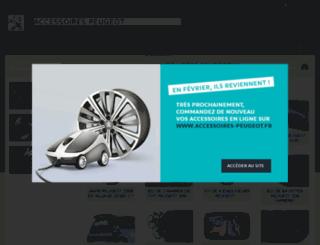 accessoires-peugeot.fr screenshot