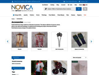 accessories.novica.com screenshot