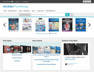 accessphysiotherapy.com screenshot