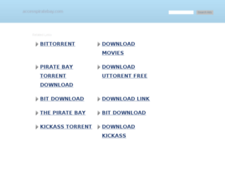accesspiratebay.com screenshot