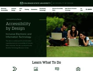 accessproject.colostate.edu screenshot