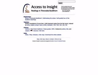 accesstoinsight.net screenshot