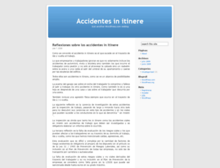 accidentesinitinere.wordpress.com screenshot