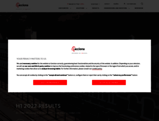 acciona.com screenshot
