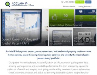 acclaimip.com screenshot