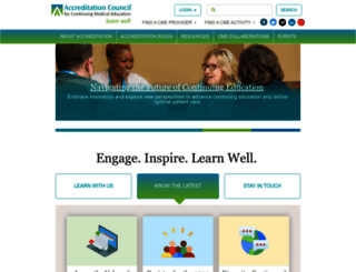 accme.org screenshot