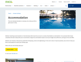 accommodation.racq.com.au screenshot