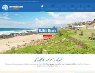 accommodationinballito.co.za screenshot
