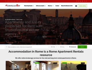 accomodationsrome.com screenshot