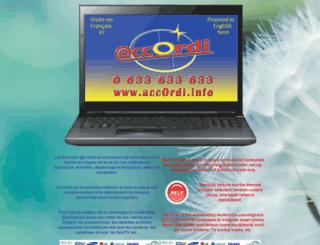 accordi.info screenshot