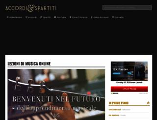 accordiespartiti.it screenshot