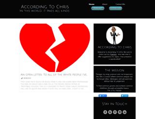 accordingtochris.com screenshot
