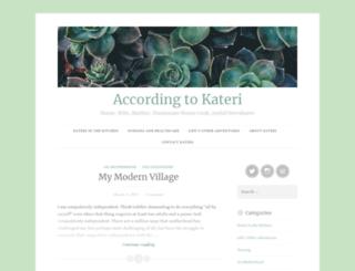 accordingtokateri.wordpress.com screenshot
