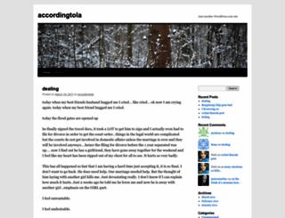 accordingtola.wordpress.com screenshot