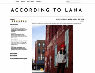 accordingtolana.blogspot.com screenshot
