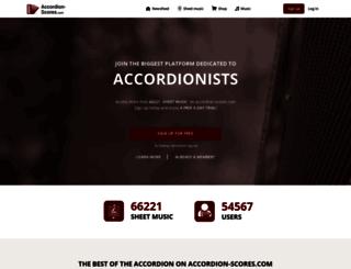 accordion-scores.com screenshot