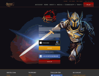 account.aq3d.com screenshot