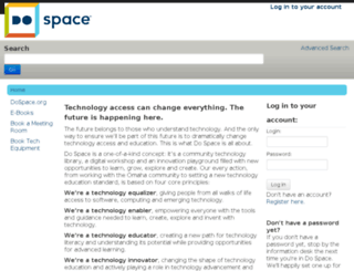 account.dospace.org screenshot