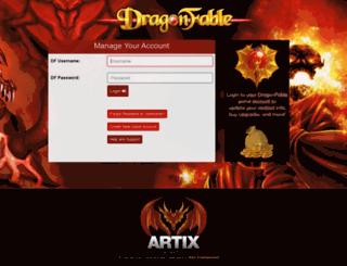 account.dragonfable.com screenshot