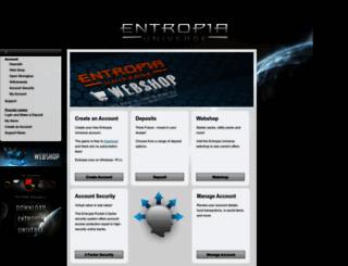 account.entropiauniverse.com screenshot