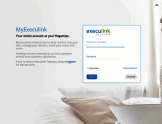 account.execulink.com screenshot