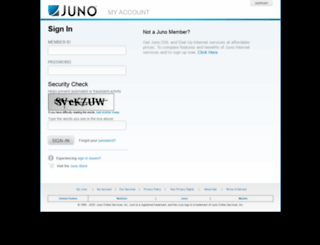 account.juno.com screenshot