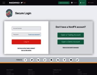 account.nordfx.com screenshot