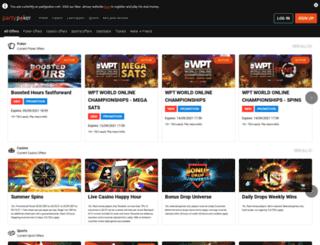 account.partybets.com screenshot