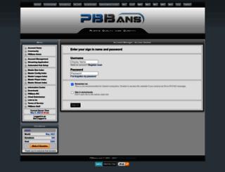 account.pbbans.com screenshot